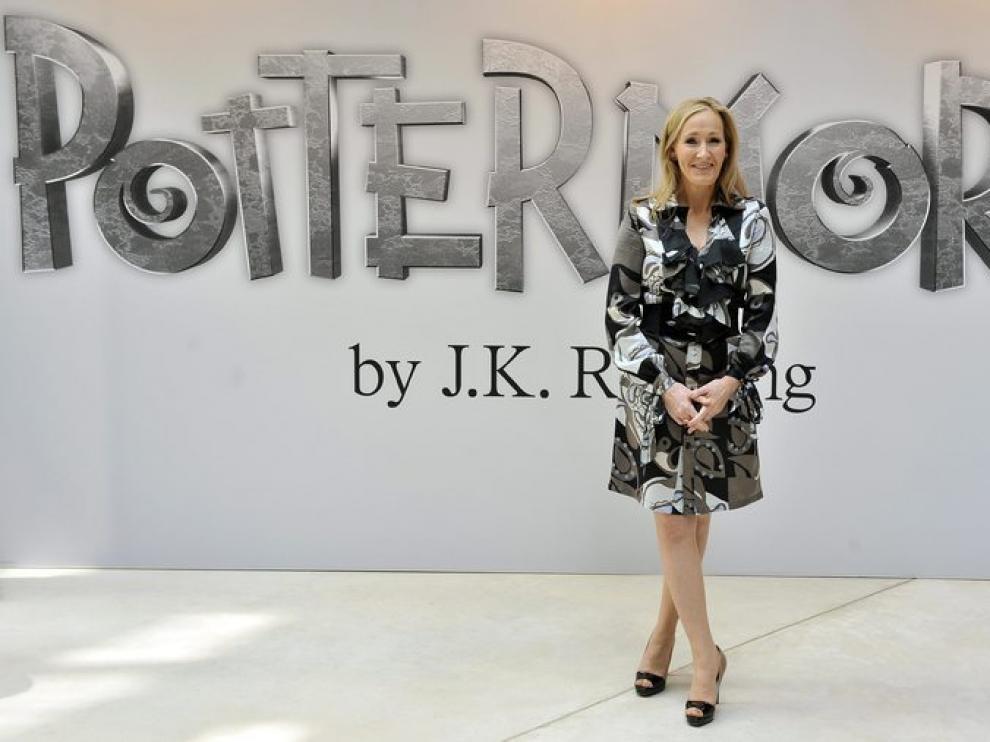 JK Rowling, durante la presentacion de 'Pottermore' el portal de Harry Potter.
