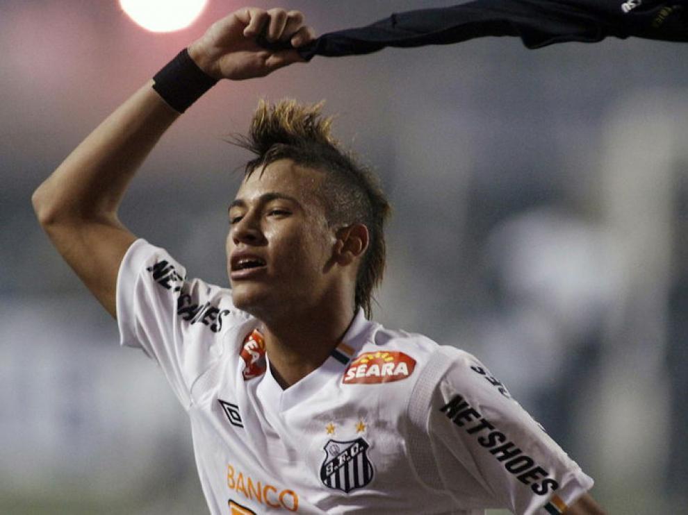 Neymar, jugador del Santos