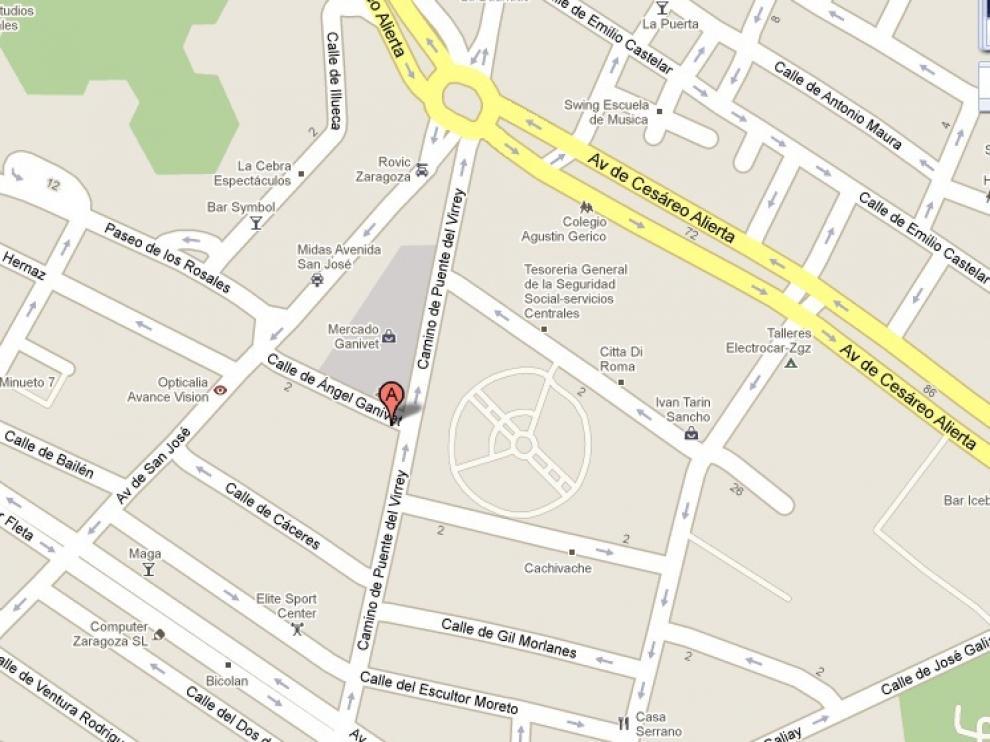 Lugar del atropello mortal con fuga en el barrio de San José.