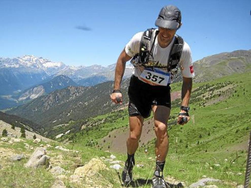 El corredor David Latre, en pleno esfuerzo.