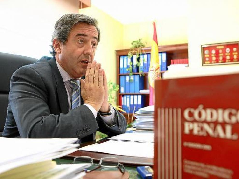Javier Zaragoza, fiscal jefe de la Audiencia Nacional, en su despacho.