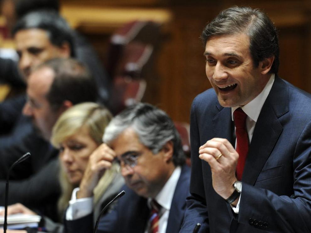 Pedro Passos durante el debate parlamentario de su programa.