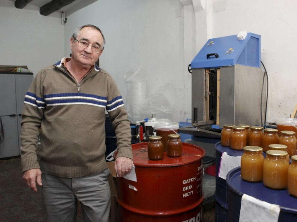Imagen de archivo de Agustín Lorién, un apicultor de Zuera