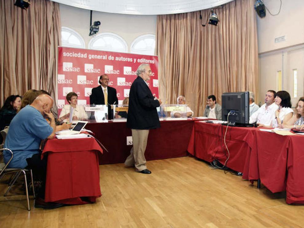 Foto faciliada por la SGAE que muestra la elección de la Junta Directiva provisional