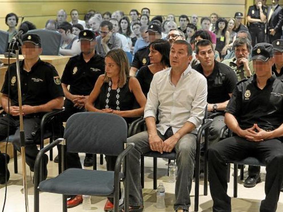 Arnaldo Otegi en el banquillo de la Audiencia Nacional en otra ocasión