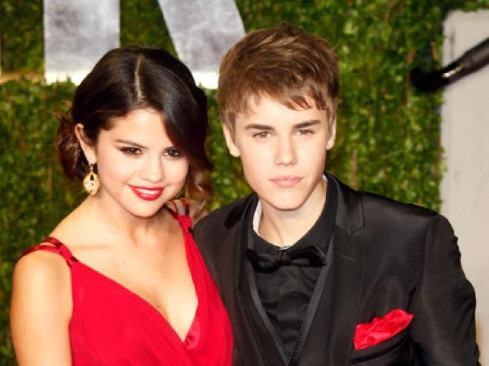 Selena Gómez, junto a Justin Bieber