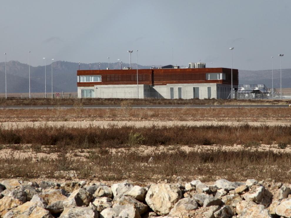 Edificios del aeródromo de Caudé