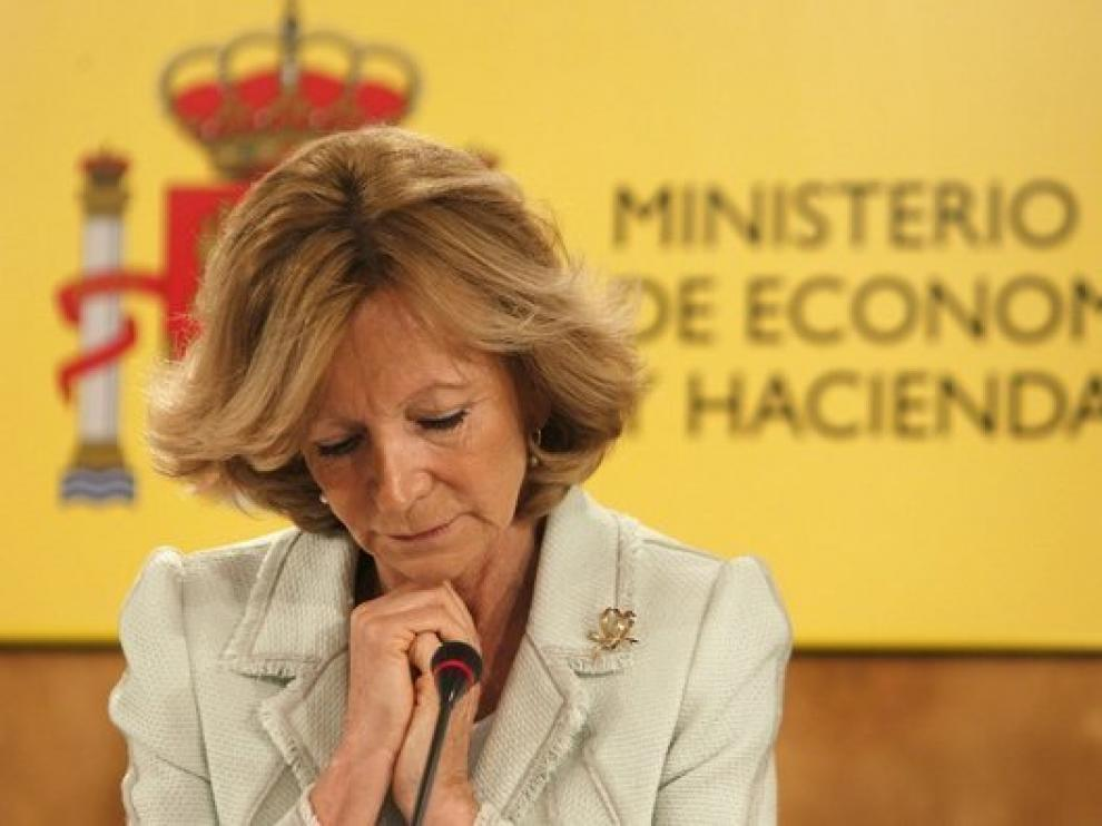 La vicepresidenta segunda del Gobierno y ministra de Economía y Hacienda, Elena Salgado