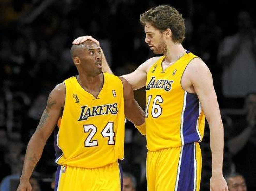 Kobe Bryant y Pau Gasol