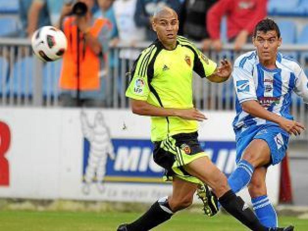 Carlos Diogo, durante un partido con el Real Zaragoza.