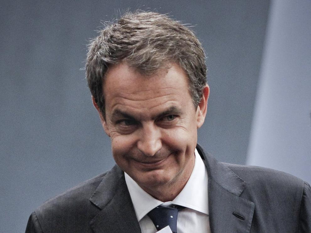 El jefe del Ejecutivo, José Luis Rodríguez Zapatero, tras anunciar la remodelación de su gabinete