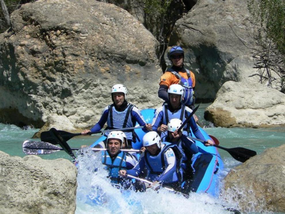 Rafting en el Gállego