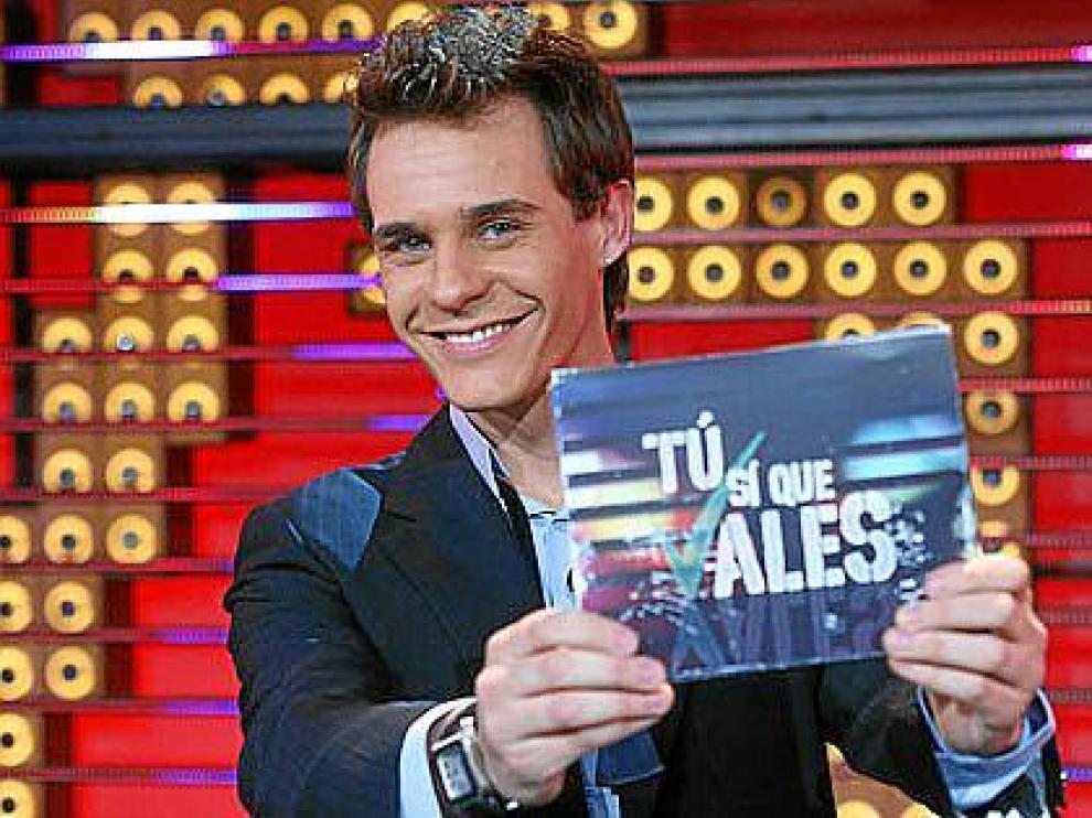 El presentador del programa cazatalentos 'Tú sí que vales', Christian Gálvez.