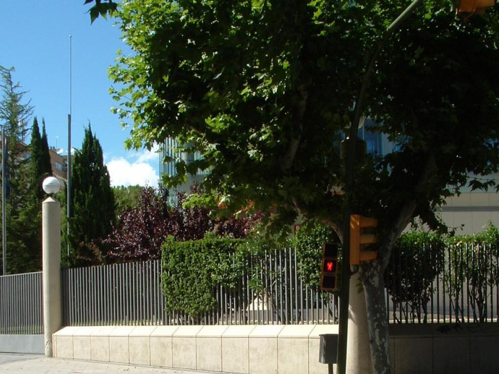 Rampa adaptada frente a la antigua sede del banco de España