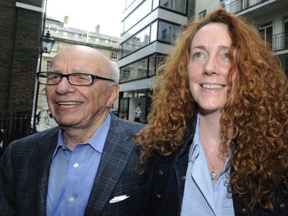 Rupert Murdoch y Rebekah Brooks, hace una semana