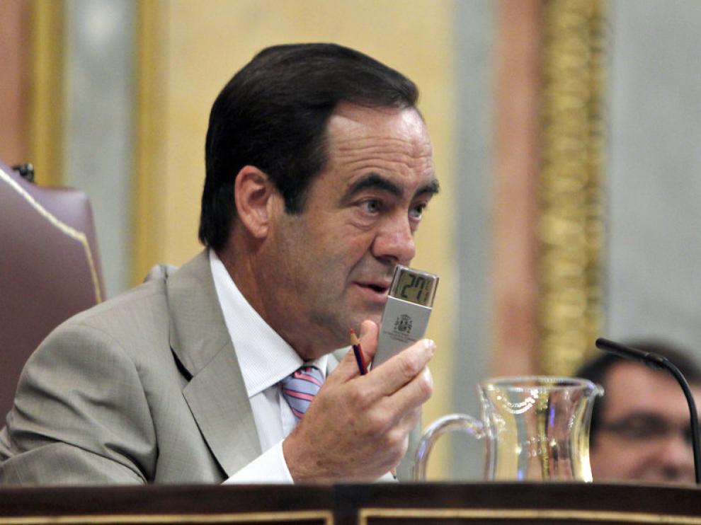 El presidente del Congreso en funciones, José Bono.