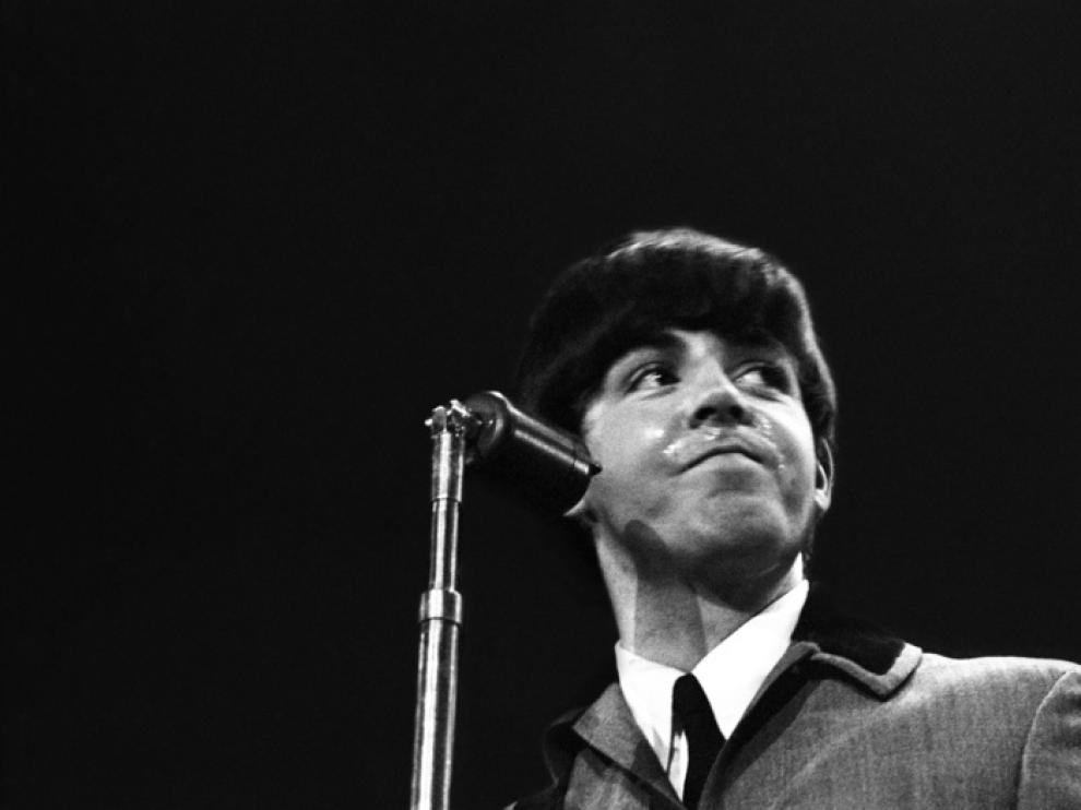 Imagen del primer concierto de los Beatles en EE. UU.