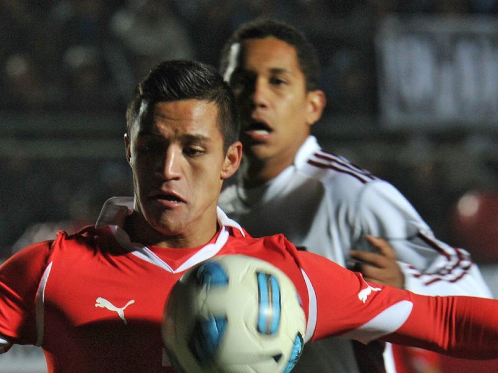 Alexis Sánchez, en el partido que enfrentó a su selección con Venezuela