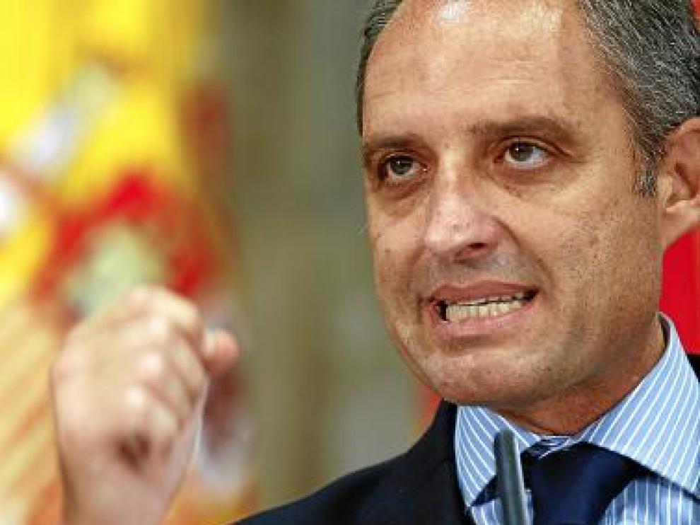 Francisco Camps, en la comparecencia por su dimisión.
