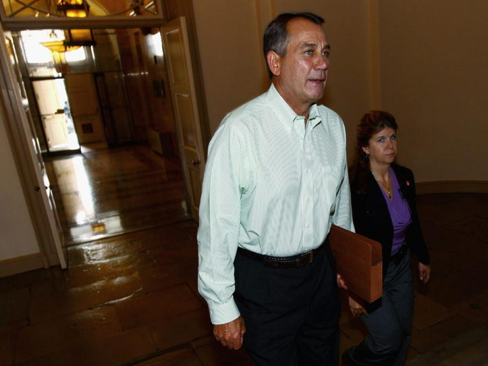 El líder de la Cámara de los Representantes, John Boehner