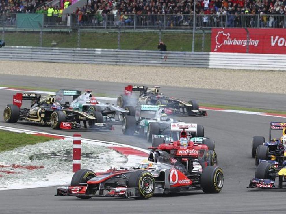 Hamilton lideró la carrera de principio a fin