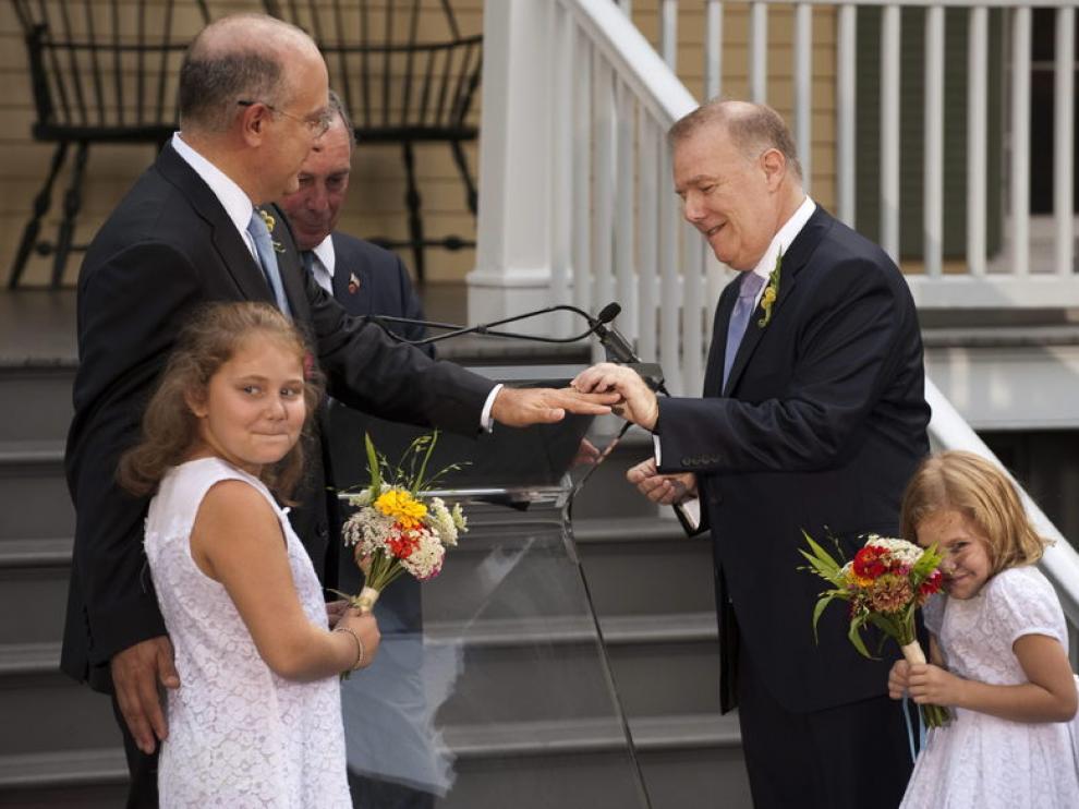 Cientos de parejas homosexuales se han casado este fin de semana en Nueva York