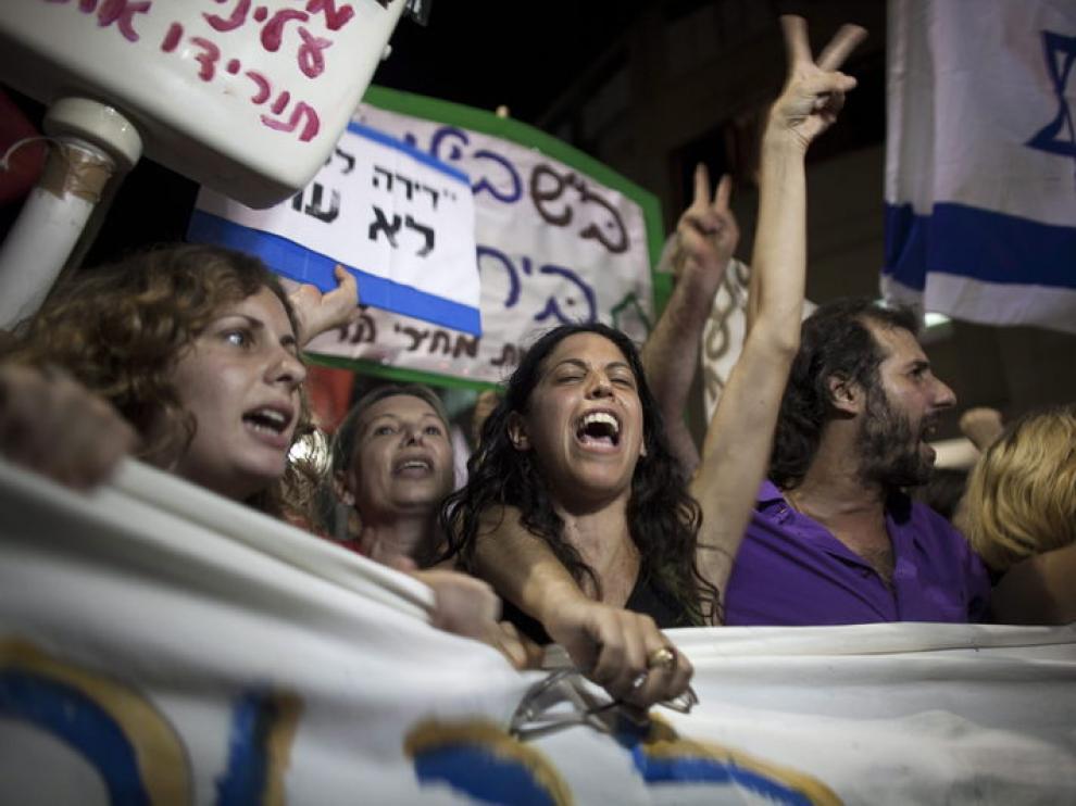 manifestaciones en Tel Aviv contra el precio de la vivienda