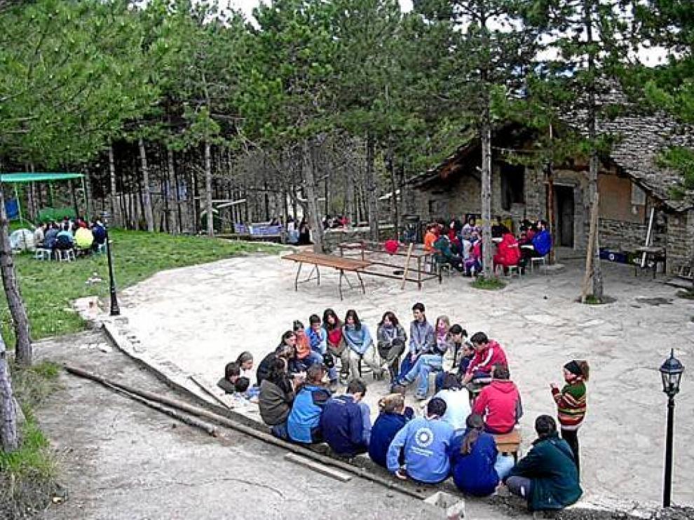 Uno de los campamentos del centro de Griébal.