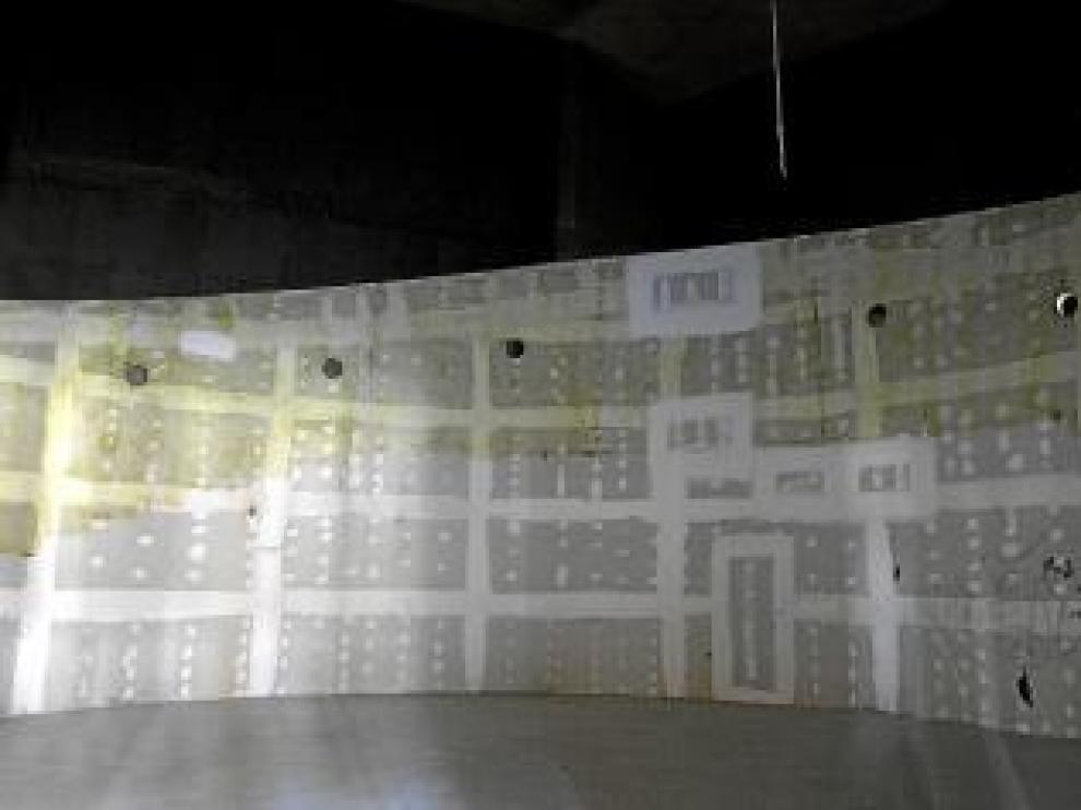 Lo que en su día fue el cine con una pantalla esférica es hoy un espacio diáfano que se convertirá en salón de actos.