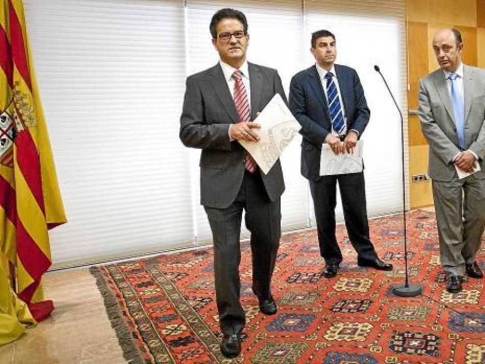 Andrés Jiménez, Carlos Terreu y Jorge Aso, los administradores concursales del Real Zaragoza