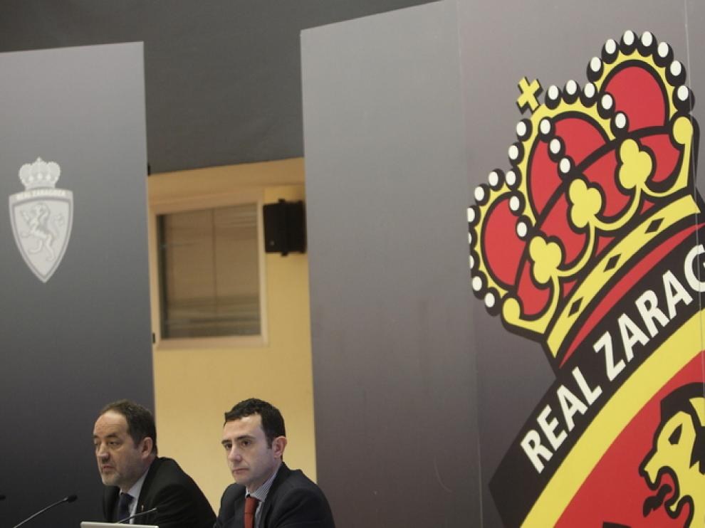 Agapito Iglesias y Javier Porquera, en una reciente Junta General de Accionistas