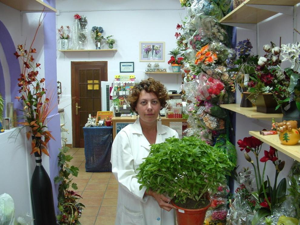 Berta Paraíso, propietaria de la floristería