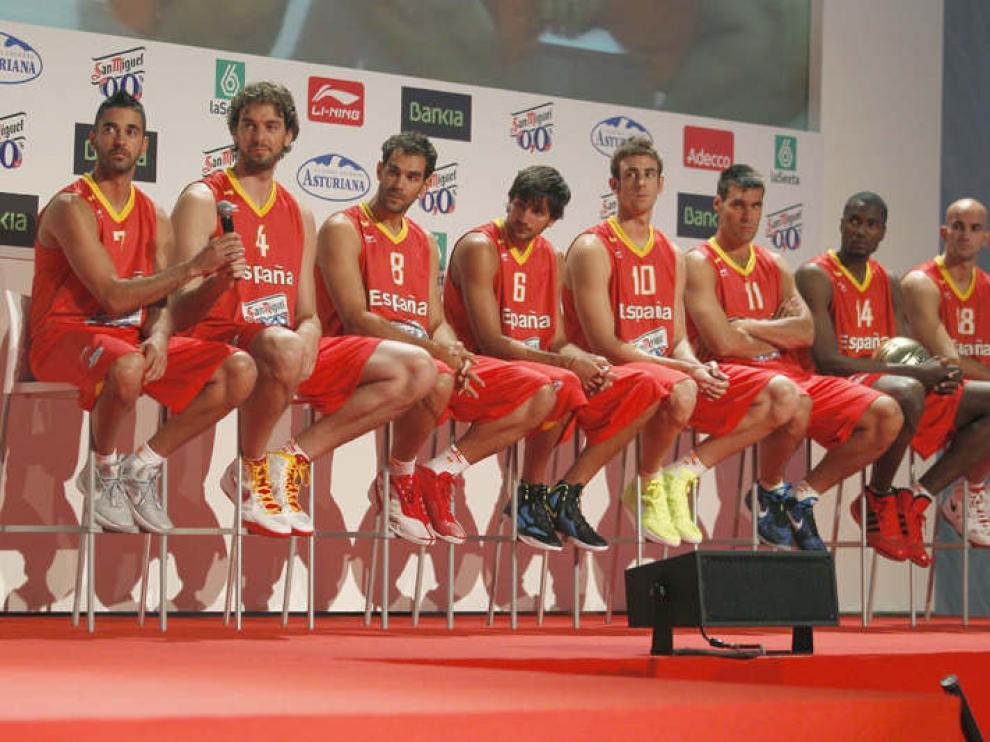 Presentación de la selección española de baloncesto