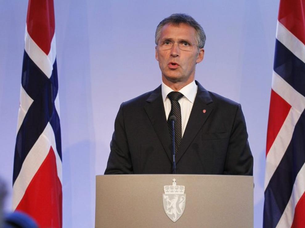 El primer ministro noruego en rueda de prensa