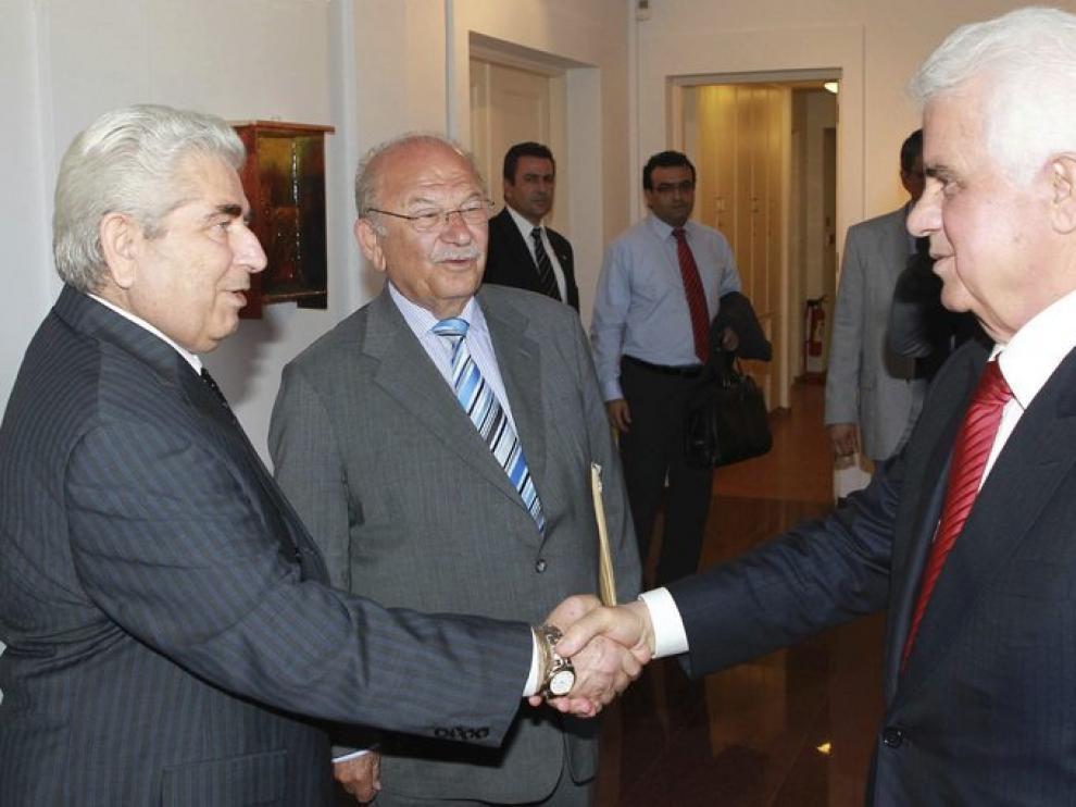 El presidente de Chipre, Dimitris Christofias (izda.), en una imagen de archivo