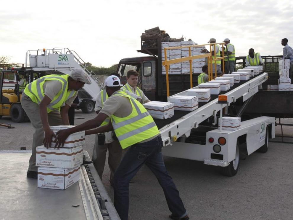 Llegada de alimentos a Somalia