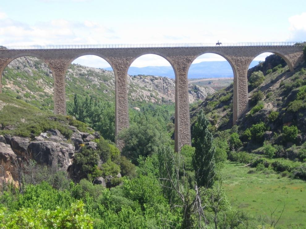 La vía verde de Ojos Negros en Teruel.