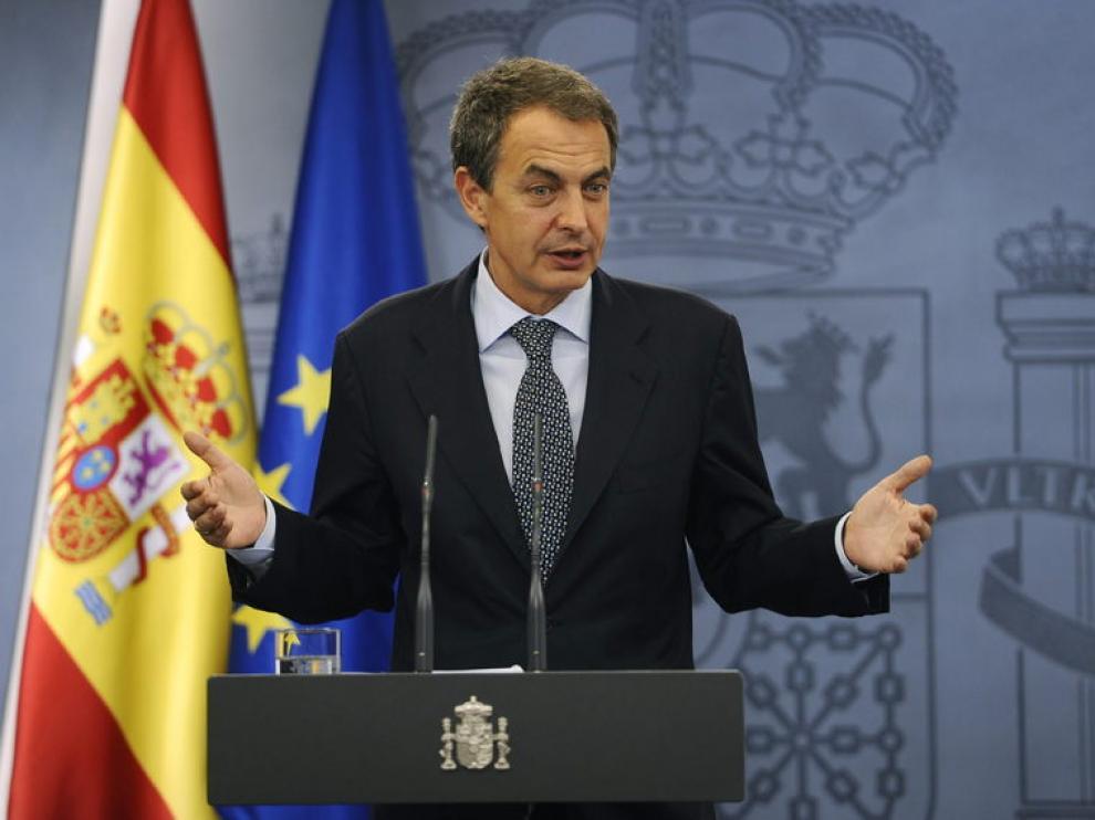 Zapatero durante la rueda de prensa de este viernes