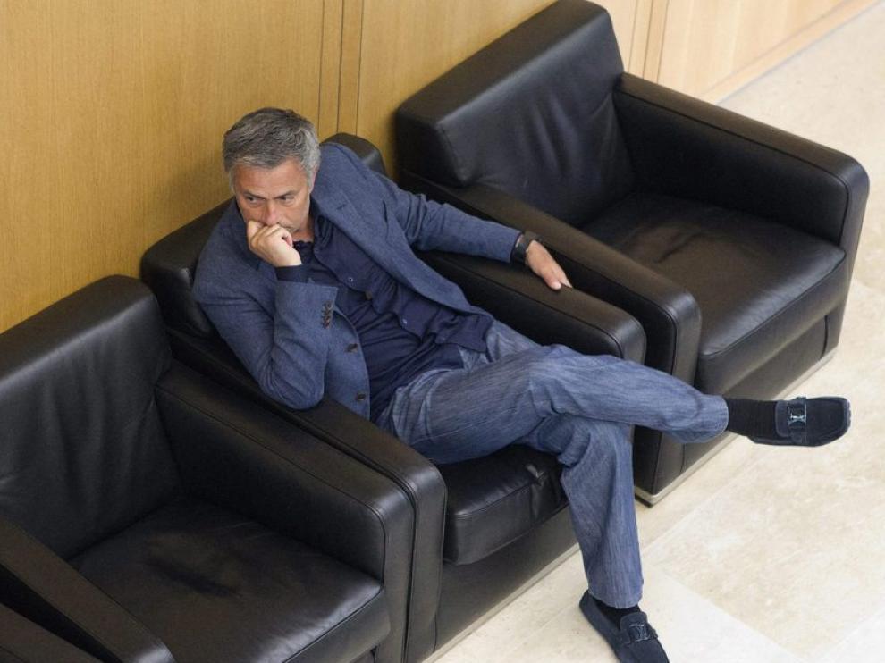 El técnico del Madrid, Mourinho.