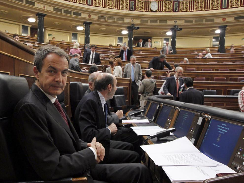 José Luis Rodríguez Zapatero en el Congreso de los Diputados