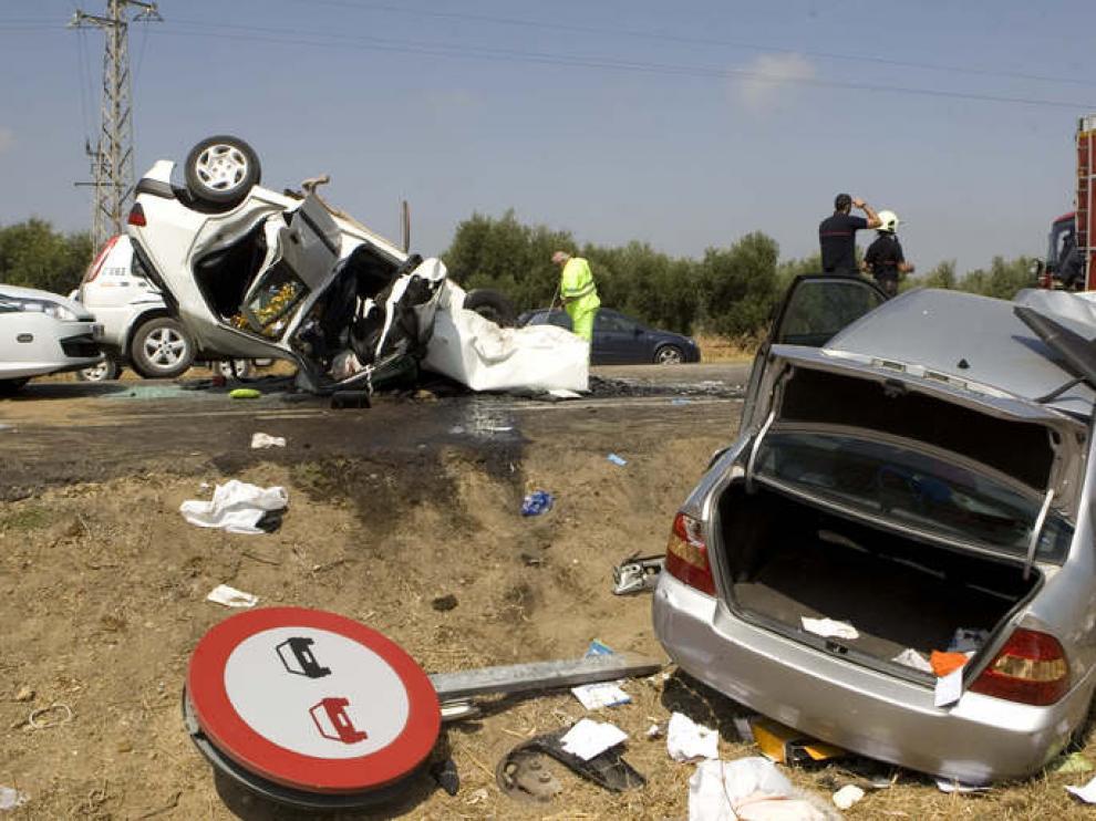 Imagen de archivo de un accidente ocurrido en las carreteras españolas