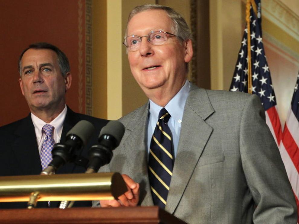 El líder de la minoría republicana en el Senado, Mitch McConnell