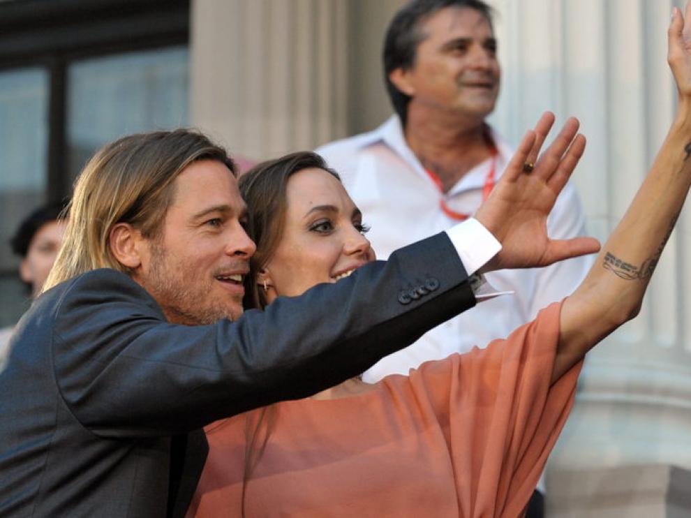 Angelina Jolie y Brad Pitt en el Festival de Sarajevo