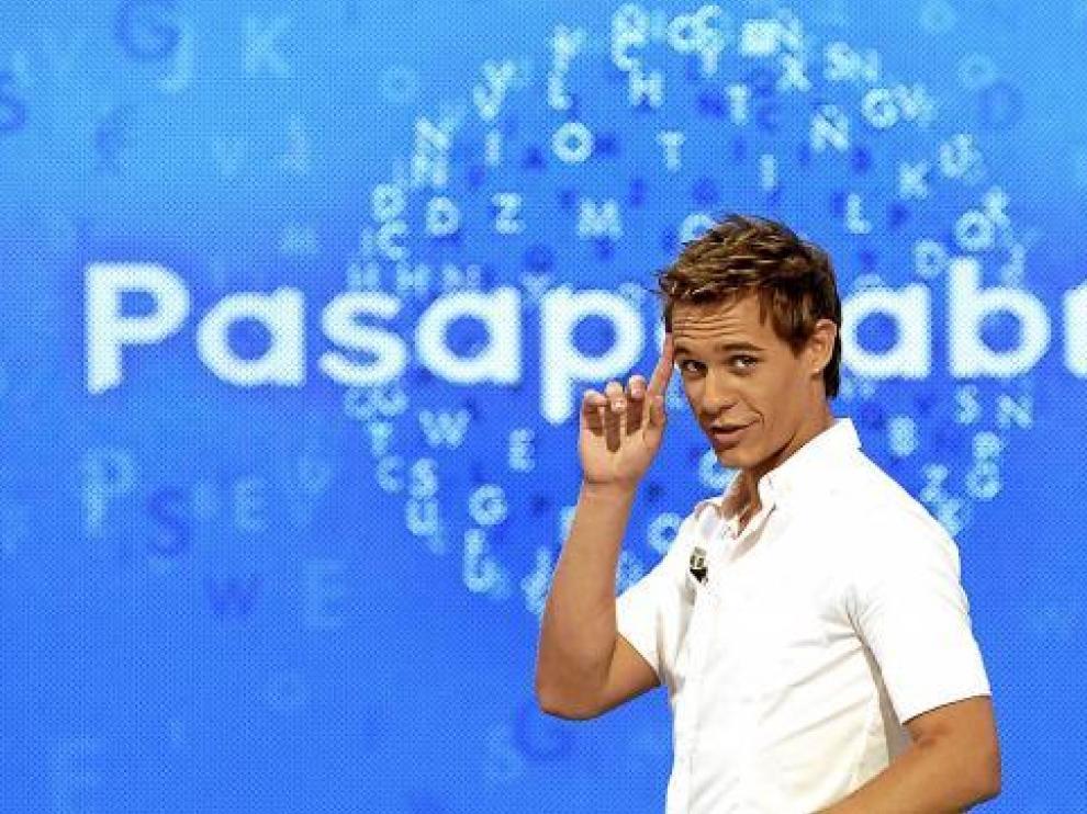 El presentador de 'Pasapalabra', Christian Gálvez, en un momento del programa.
