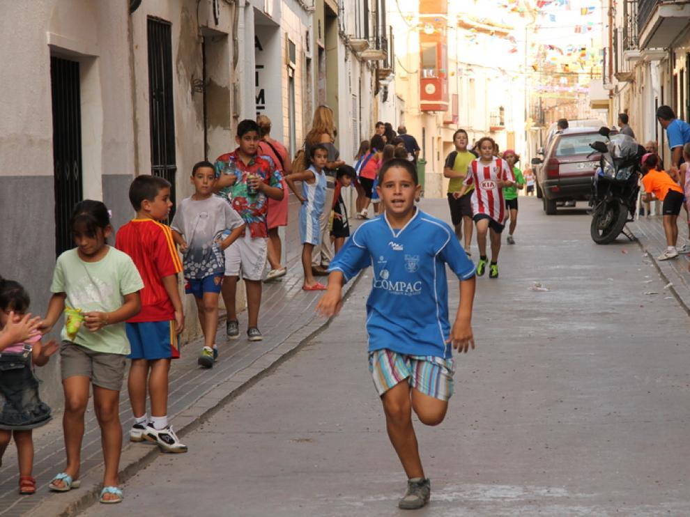 Los niños portagonizaron la competición.