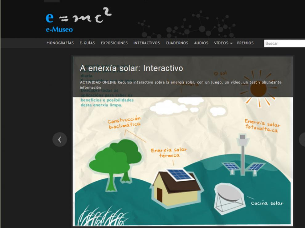 Un espacio 'on-line' para disfrutar de la ciencia: el e-Museo de los Museos Científicos Coruñeses