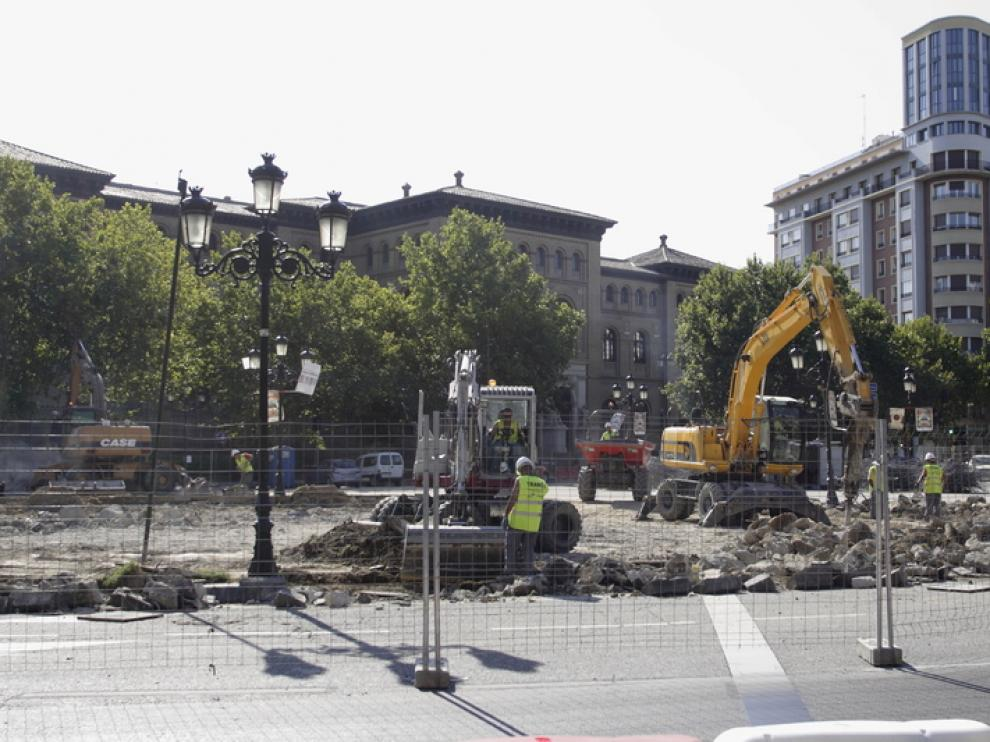 Obras en Plaza de Paraíso