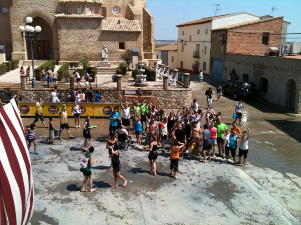 La fiesta del agua es otro clásico en la localidad oscense.
