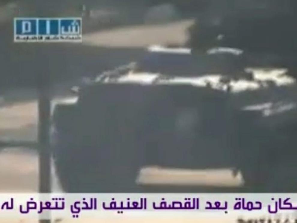 Tanques del Ejército sirio en Hama