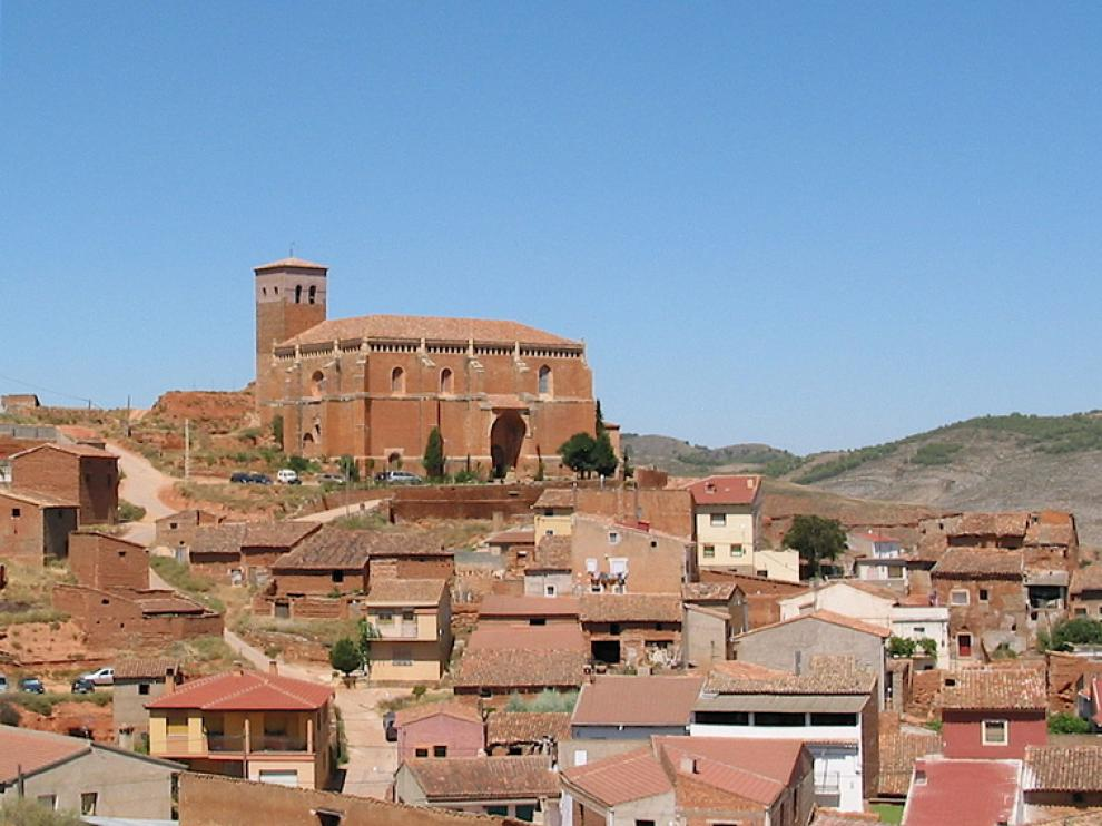VIsta general de la localidad de Ibdes (Zaragoza)